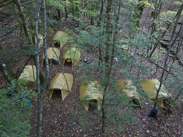 聖岳 光岳 易老岳 キャンプ テント 山小屋